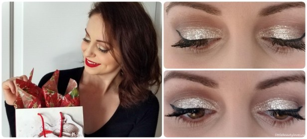 Festive Makeup Look_Sparkles & Red Lip collage